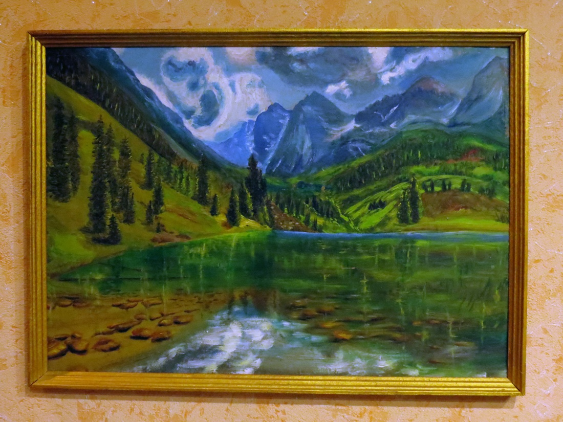 A painting presented by a Russian haiku poet (2)